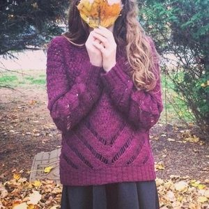 Maroon Forever 21 Knit Sweater (S)